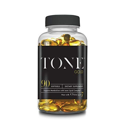 Complete Nutrition Tone Gold, Supports Body Fat Loss, Metabolism & Weight Management, Omega 7, 6 & 3, Sea Buckthorn, 90 Softgels