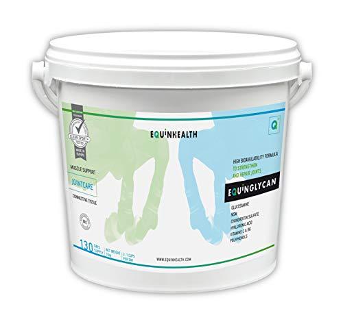 Equinhealth EQUINGLYCAN Powder Suplemento Premium para Caballo y Poni Listo para Usar - Cuidado de Las articulaciones - Movilidad - Condroprotector – No doping (3 Kg)