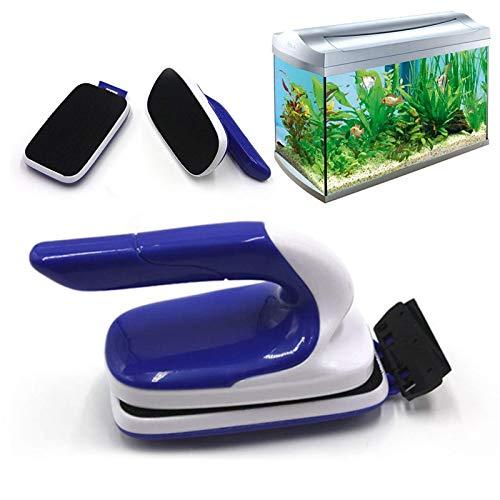 Limpiacristales magnético DMHH para limpiador de acuarios Raspador de algas Cepillo magnético de vidrio para peceras, Imán de algas con cuchilla