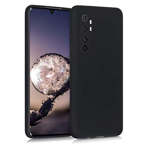 kwmobile Funda Compatible con Xiaomi Mi Note 10 Lite - Carcasa de TPU Silicona - Protector Trasero en Negro Mate