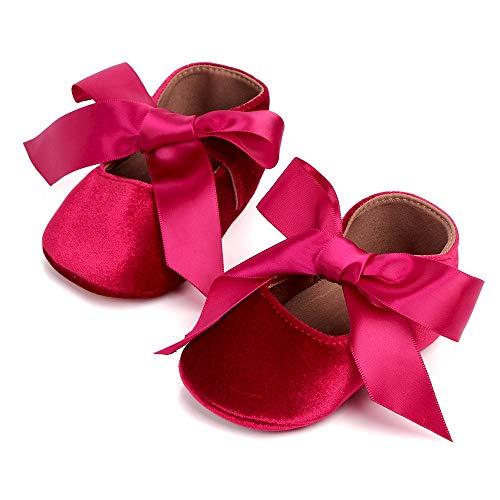 ZSGG Baby Shoes First Step Walker laço laço laço princesa sapato feminino macio recém-nascido menina couro PU