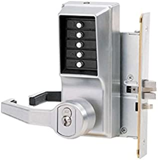Kaba Simplex LR8146S Lever Mechanical Pushbutton Lock Key Bypass Mortise (Left Hand Reverse)