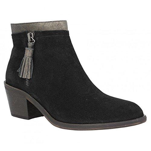 Bottines A Talons En Suede Schmoove Heroine Neptune Zip Boots Noir Fem 37