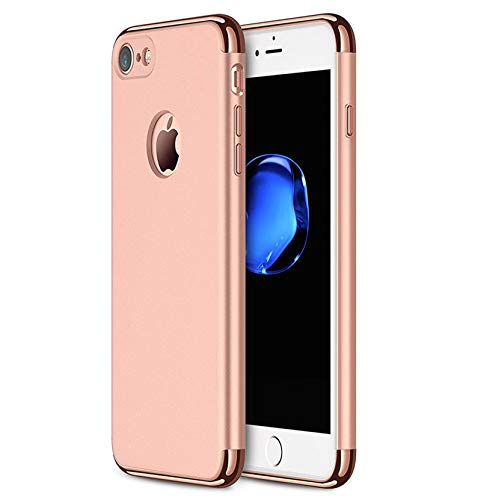 iPhone 7 Case/iPhone 8 Case, NAISU iPhone 7/8 Back Cover, Ultra Slim & Rugged Fit Shock Drop Proof Impact Resist Protective Case, 3 in 1 Hard Case for Apple iPhone 7/8 - Rose Gold
