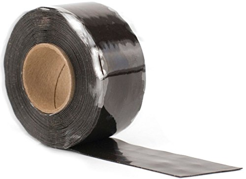 """Design Engineering 010491 Quick Fix Tape - Self-Curing, Waterproof Silicone Insulation Tape, 1"""" x 12' Roll - Black"""