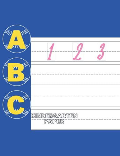 Kindergarten Paper Loose Leaf: Handwriting Practice Paper 120 Blank Writing Pages: Kindergarten Writing Paper With Lines For ABC Kids: 120 Blank ... Dotted Lines 8.5' x 11' (21.59 x 27.94 cm)