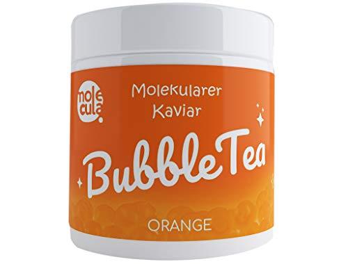 Bubble Tea Popping Boba 100% Vegan ohne künstliche FarbstoffeTapioca Molekularer Kaviar Orange 800g Fruchtperlen