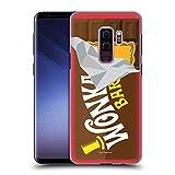 Head Case Designs Offizielle Willy Wonka and The Chocolate Factory Suessigkeiten Bar Grafiken Harte Rueckseiten Huelle kompatibel mit Samsung Galaxy S9+ / S9 Plus