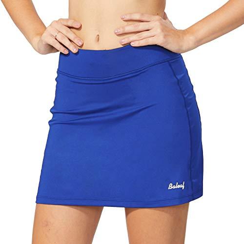 BALEAF Women's Athletic Skorts Lightweight Active Skirts with Shorts Pockets Running Tennis Golf Workout Sports Blue Size XS