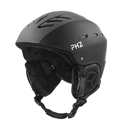 PHZ. Ski Helmet, Snowboard Helmet - Adjustable Venting, Goggles and Audio Compatible, Removable...