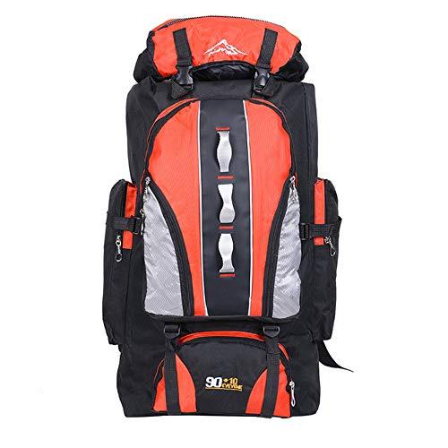 WOSHUAI Orange Rucksack-Halterung Trekking Rucksack, 100l Reisen Wandern Rucksack für Freireise Camping