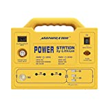monerator Portable Generator Power Station 256 Wh Rechargeable Solar Generator Lithium Ion Phosphate (LiFePO4) Battery Backup Power Supply 12V DC/110V AC for Camping Fishing Earthquake Emergency