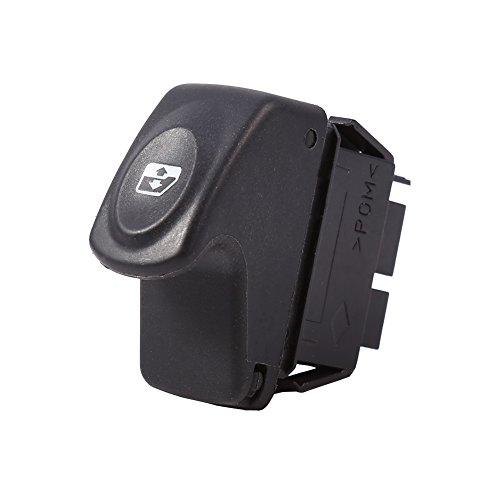 Yctze Interruptor de ventana eléctrica, interruptor de control de elevación de vidrio de ventana eléctrica de coche de 12V 6 pines para Clio II 2 Megane I Kangoo