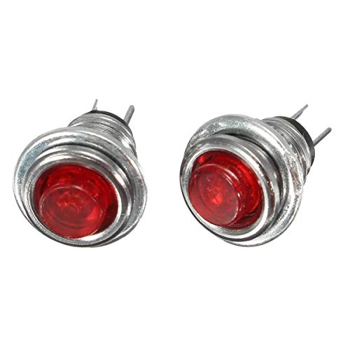 Switched Electrical M3 Mini Momentary On/Off Lockless Micro Push Button SPST Switch Red 5Pcs