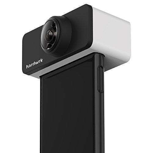 hardwrk PanoClip - Objektiv-Aufsatz - kompatibel mit Apple iPhone 7/8 als 360 Grad-Kamera - 360 Grad-Bilder Aufsteck-Linse Clip Foto Zubehör