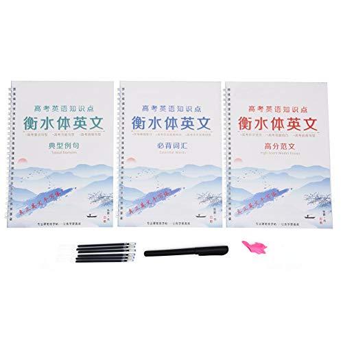 Quaderno di calligrafia inglese Quaderno di esercitazione per la scrittura di bellissime scanalature riutilizzabili in inglese per studenti di bambini