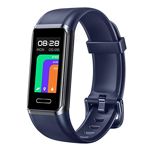 LETSCOM Fitness Tracker, Smart Touch Screen Activity Tracker with Heart Rate Monitor & Blood Oxygen Saturation, Calorie Step Counter, Alexa Built-in, 5ATM Waterproof, Pedometer Watch for Women Men