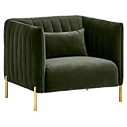 green home decor velvet armchair