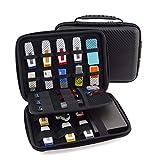 eoocvt USB Flash Drive Case, Universial Portable Big Capacity Waterproof Shockproof Electronic Accessories Organizer Holder Hard Drive Case Bag - Big Black