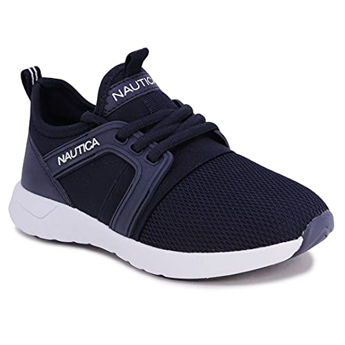 Nautica Kids Boys Sneaker Comfortable Running Shoes-Parks Buoy-Navy White -5