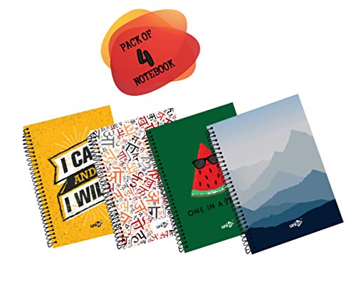 Unigo | Spiral Notebook | A4 Size | 29cm x 21cm | 300 Pages Ruled (Pack-03)