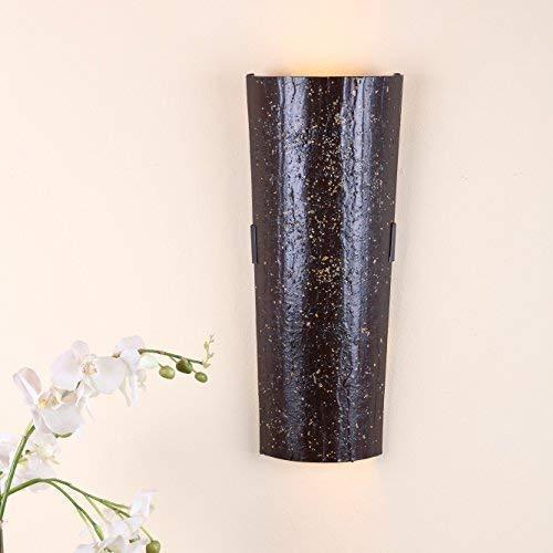 Dachziegelleuchte Mousse au chocolate | Wandleuchte Dachziegel nur für Innen | Wandlampe inkl. GU10 Leuchtmittel | Wandlampe mit Klosterziegel handbemalt