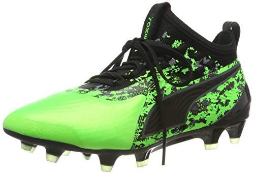 Puma Unisex-Kinder ONE 19.1 FG/AG Jr Fußballschuhe, Grün (Green Gecko Black-Charcoal Gray), 38.5 EU