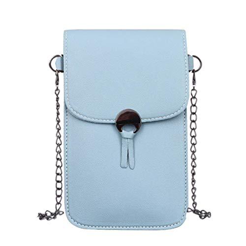 Viesky Handy-Geldbörse PU Crossbody Tasche mit Touchscreen Fenster Handy Handtasche