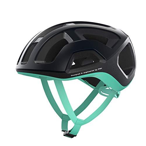 POC Casco de Ciclismo Unisex para Adultos Ventral Lite Uranium Black/Fluorite Green...