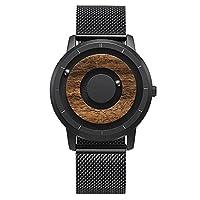 ♚ Jede Holz-Uhr ist durch Maserung und die Farbe des Holzes anders und somit ein Unikat. Statt der traditionellen Zeiger wird die Zeit mit hilfe innenliegendem Magnetismus von zwei Kugellagern angegeben. Das neu gestaltete Gehäuse ist aus hochfestem,...