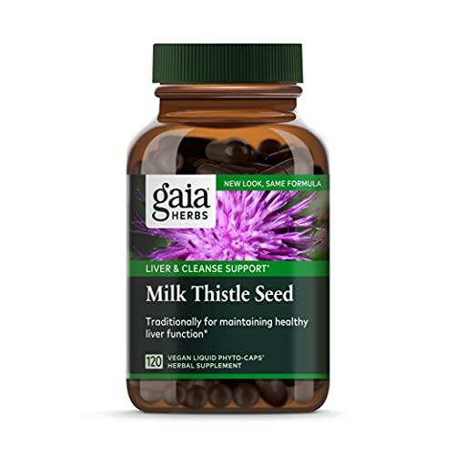 Gaia Herbs Milk Thistle Seed Liquid Phyto-Capsules, 120 Count