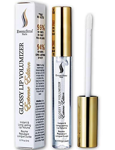 Lip Plumping Lip Gloss - Lip Plumper That Really Works - No More Lip Injection - Moisturize & Volumize Lips Instantly for Thicker & Fuller Lips - Long Lasting Lip Filler Enhancer Effect