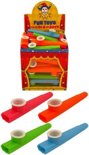 36 x Children's Plastic KAZOO Music Maker Assorted Colours 11cm by Henbrandt