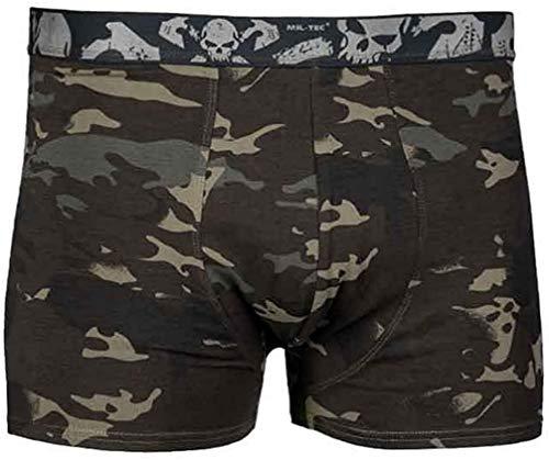 Mil-Tec Boxer Shorts Skull (2er Pack) multitarn® Black Gr. L