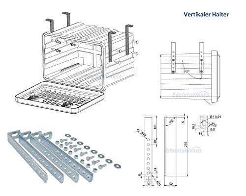 Vertikale Halter für LKW Staukasten Daken Welvet und Daken Just, Montagesatz, Daken VH401 - 4