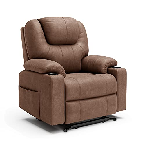 Recliner Chair, Furgle Power Lift Chair with Massage, Fabric Cloth Lift Recliner Chair for Elderly,...