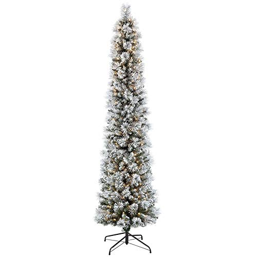 7.5 PreLit Flocked Pencil Tree 350 Green | FunctionalFox's Finds