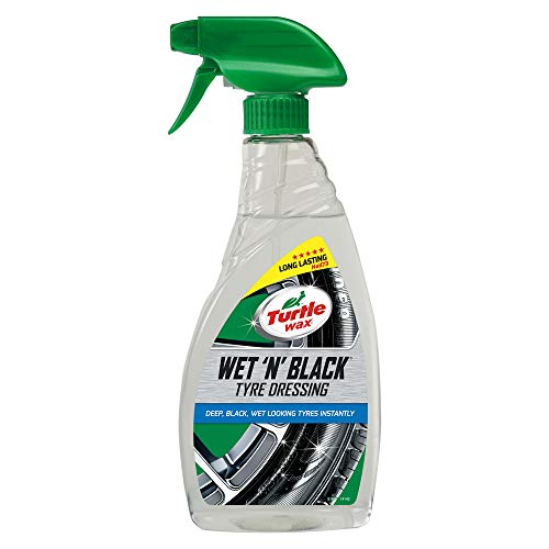Turtle Wax 51801 Wet N Black Car Tyre Cleaning & Shine For Wet Look 500ml
