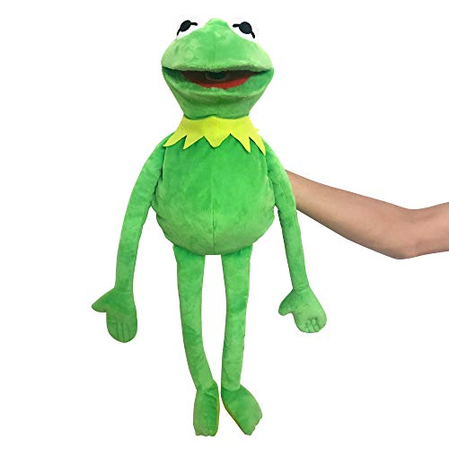 Kermit Frog Puppet, The Muppets Show, Soft Hand Frog Stuffed Plush Toy for Boys and Grils Presents - 24 Inches