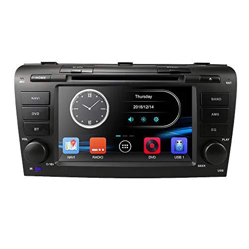 Hizpo 7 Zoll Double Din In Dash HD Touchscreen Auto DVD-Player GPS-Navigation Stereo für Mazda 3 2004 2005 2006 2007 2008 2009 Unterstützung Navi / Bluetooth / SD / USB / FM / AM Radio / DVD / 1080P