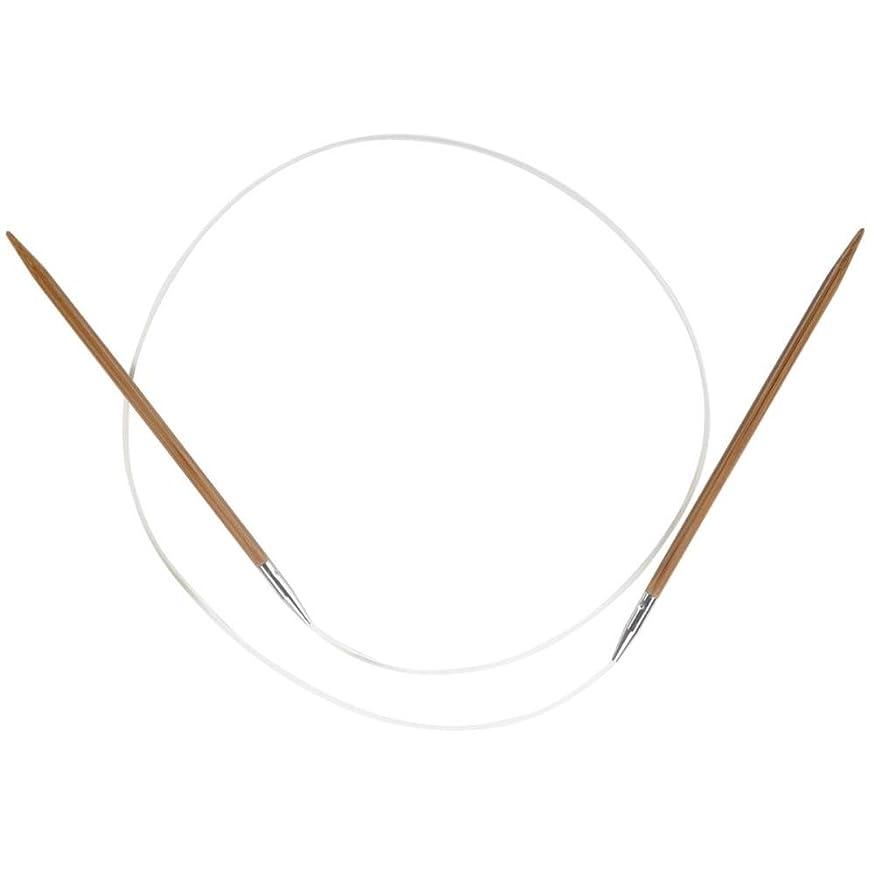 ChiaoGoo Circular 32-inch (81cm) Bamboo Dark Patina Knitting Needle; Size US 5 (3.75mm) 2032-5