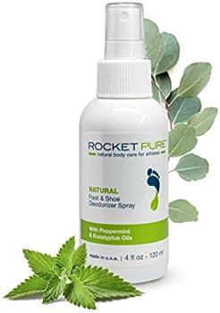 Rocket Pure Natural Foot & Shoe Deodorizer Spray 4 Fl Oz