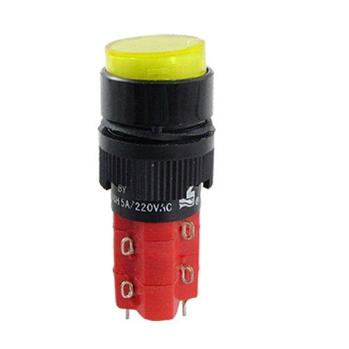 DC 24 V geel drukknop momentaire schakelaar w LED-lamp