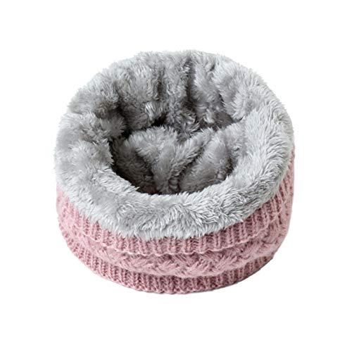 Damen Winter Solid Strickschal Set Snood Neck Beanie Hat Einfache Schals Kaschmir...