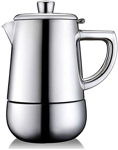 TEHWDE Huishoudelijke Handmatige Koffiemachine, RVS Koffiebonen Grinder Huishoudelijke Espresso Machine Koffiemachine Home Office 260ml