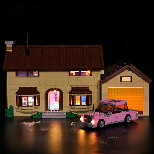Nlne Kit De Iluminación Led para Lego Casa De Los Simpsons - Compatible con Ladrillos De Construcción Lego Modelo 71006 (Juego De para Legos No Incluido)