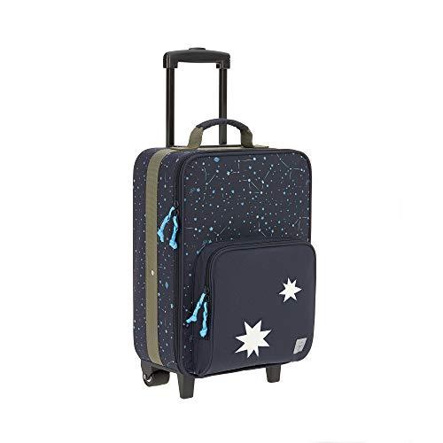 LÄSSIG Kinder Trolley Kindergepäck Reisekoffer mit Packriemen und Rollen ab 3 Jahre/Kids Trolley, Magic Bliss, 29,5 x 19,5 x 46 cm, blau