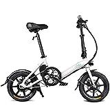 VéLo éLectrique Pliable Adulte Homme Pliable Vélo Double Frein à disque portable for le vélo électrique pliant vélo avec des pédales, 7.8AH au lithium-ion;Vélo électrique avec 14 pouces Roues et 250W