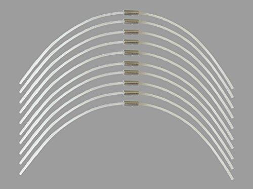 gartenteile Lot de 10 fils extra résistants - Longueur : 27 cm - Diamètre : 2,4 mm - Pour coupe-bordures sans fil Bosch Art 30 Combitrim - Extra fort