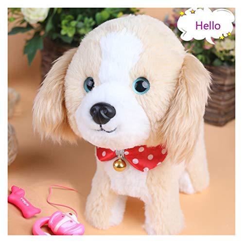 GaoHR Control de sonido juguetes para perros robot perros interactivos electrónicos perrito peluche animal animal cantar caminar corte peluche ajuste para niños regalo usb cargo ( Color : Dog B )